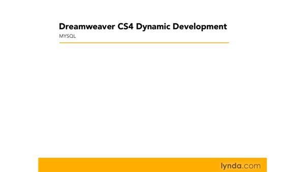 Introducing Apache, MySQL, and PHP: Dreamweaver CS4 Dynamic Development