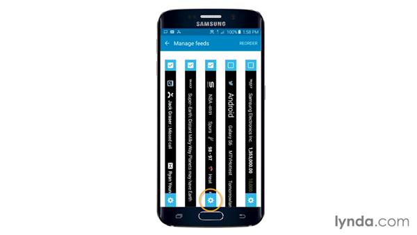 Customizing the Edge area: Samsung Galaxy S6 and S6 Edge Essential Training