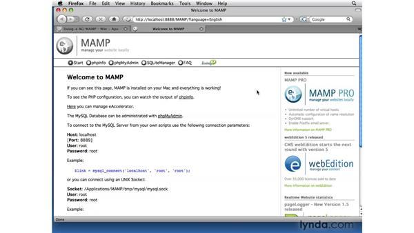 Installing MAMP on Mac OS X: Dreamweaver CS4 Dynamic Development