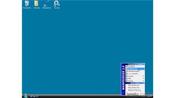 Installing the exercises database : Dreamweaver CS4 Dynamic Development