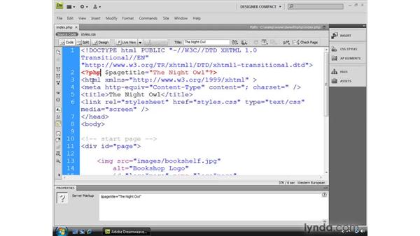 Understanding basic PHP code: Dreamweaver CS4 Dynamic Development