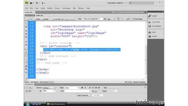Using Live View and Live Code with PHP: Dreamweaver CS4 Dynamic Development