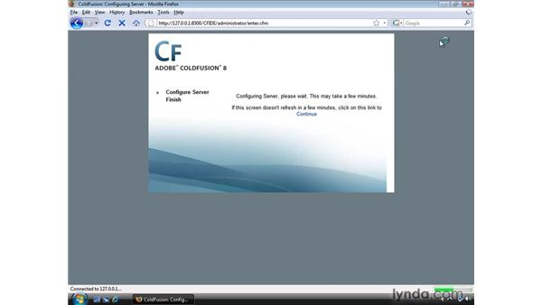 Completing the ColdFusion installation: Dreamweaver CS4 Dynamic Development