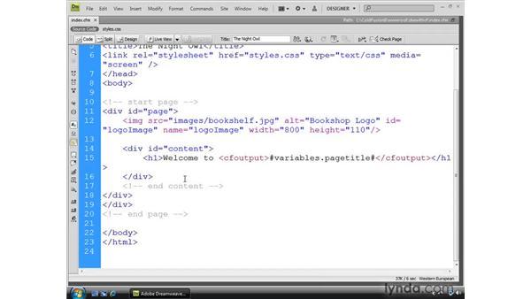 Understanding basic ColdFusion code: Dreamweaver CS4 Dynamic Development