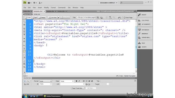 Using server-side includes: Dreamweaver CS4 Dynamic Development