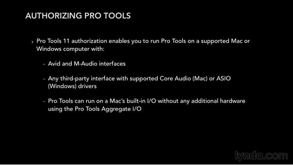 Installing and authorizing Pro Tools