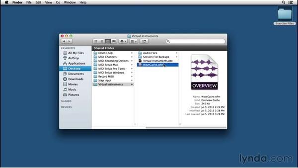 Identifying elements in the session folder: Pro Tools 12 Essential Training