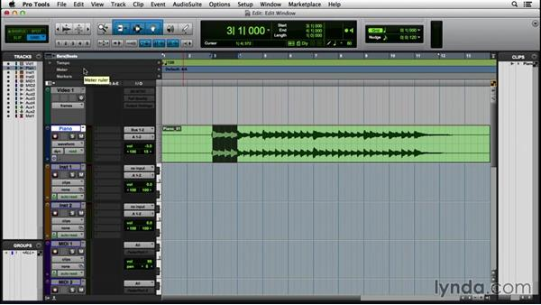 Working in the Edit window: Pro Tools 12 Essential Training (2016)