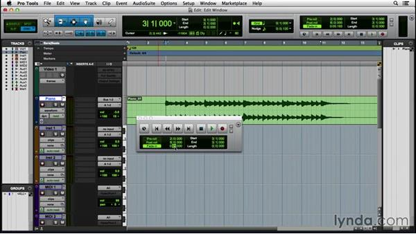 Using the Transport and Big Counter windows: Pro Tools 12 Essential Training (2016)