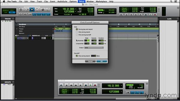 Creating a click track: Pro Tools 12 Essential Training