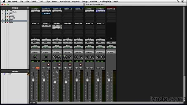 Creating a headphone mix: Pro Tools 12 Essential Training
