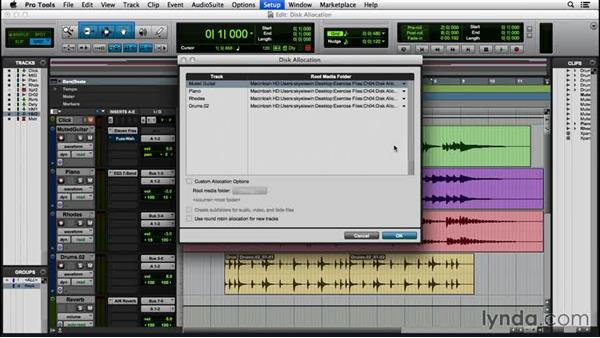 Assigning disk allocation: Pro Tools 12 Essential Training