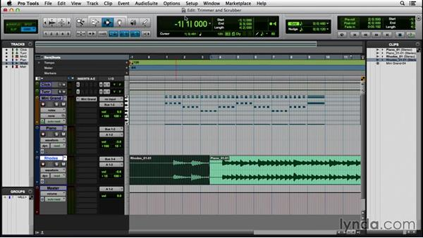 Understanding the Trim and Scrubber tools: Pro Tools 12 Essential Training (2016)