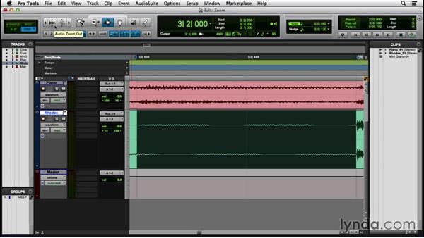 Changing the view with the Zoomer tool and zoom presets: Pro Tools 12 Essential Training (2016)