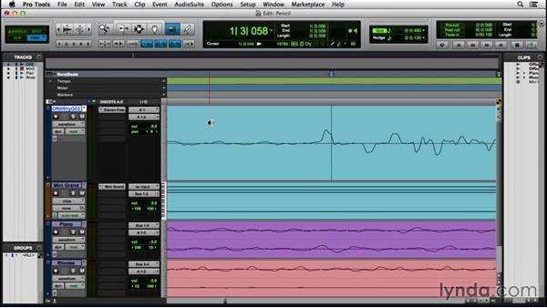 Editing with the Pencil tool: Pro Tools 12 Essential Training (2016)