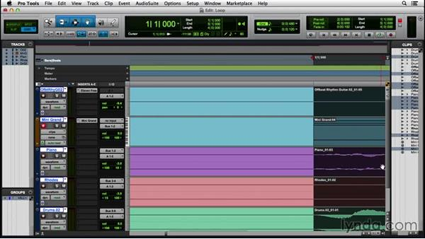 Creating an audio loop: Pro Tools 12 Essential Training