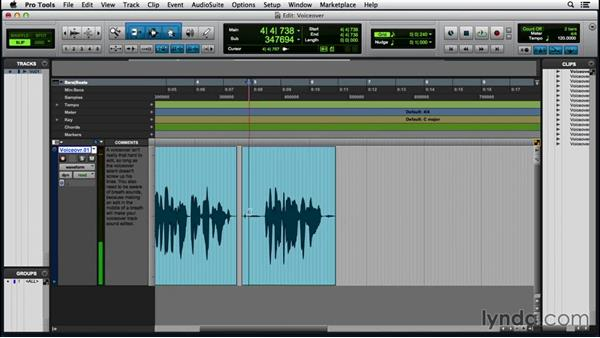 Editing a voice-over: Pro Tools 12 Essential Training (2016)