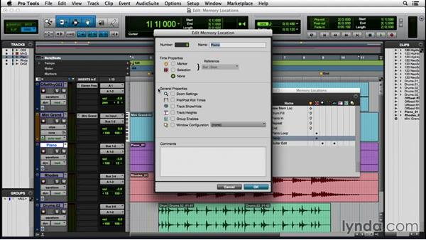 Using memory locations: Pro Tools 12 Essential Training
