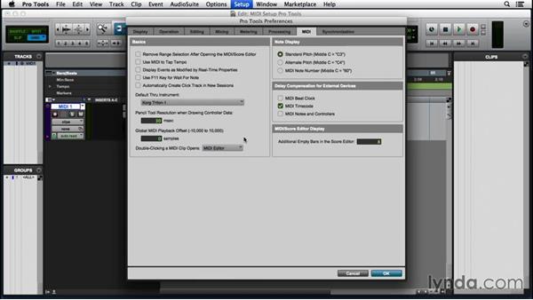 Configuring MIDI in Pro Tools: Pro Tools 12 Essential Training (2016)