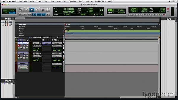 Recording MIDI data: Pro Tools 12 Essential Training (2016)