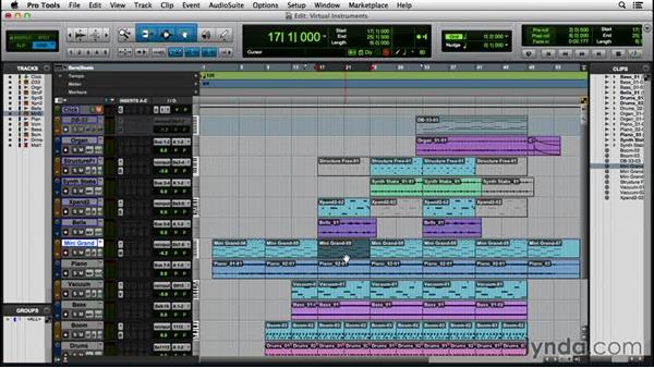 Composing with virtual instruments: Pro Tools 12 Essential Training