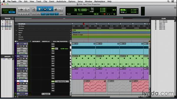 Applying real-time properties: Pro Tools 12 Essential Training (2016)