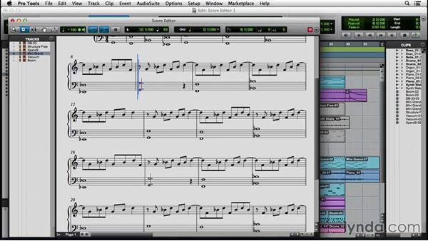 Exploring the Score Editor: Pro Tools 12 Essential Training