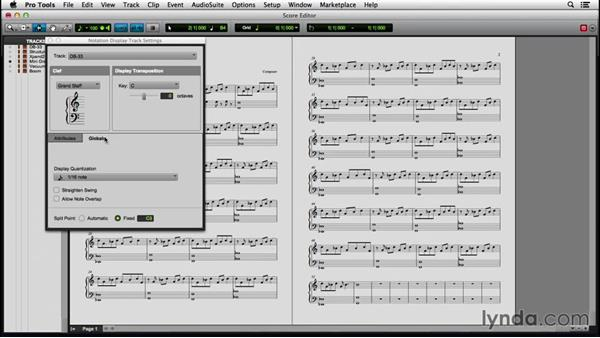 Setting up a score: Pro Tools 12 Essential Training