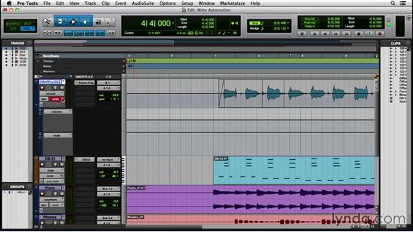 Writing and editing automation: Pro Tools 12 Essential Training