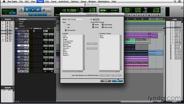 Setting up a session for mixing: Pro Tools 12 Essential Training