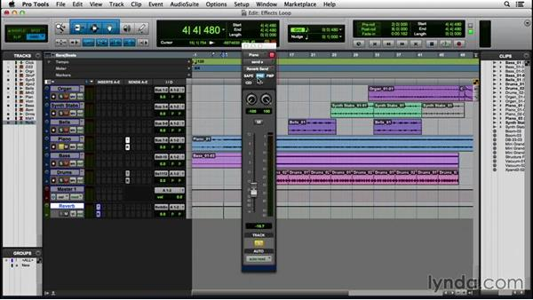 Creating an effects loop: Pro Tools 12 Essential Training