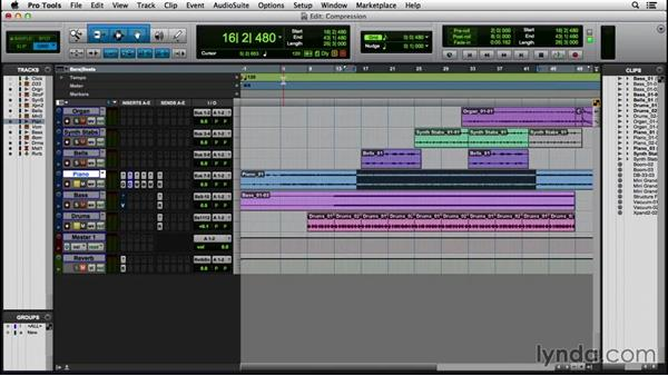 Applying compression and limiting: Pro Tools 12 Essential Training