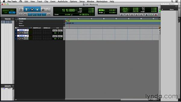 Setting up a session for mastering: Pro Tools 12 Essential Training