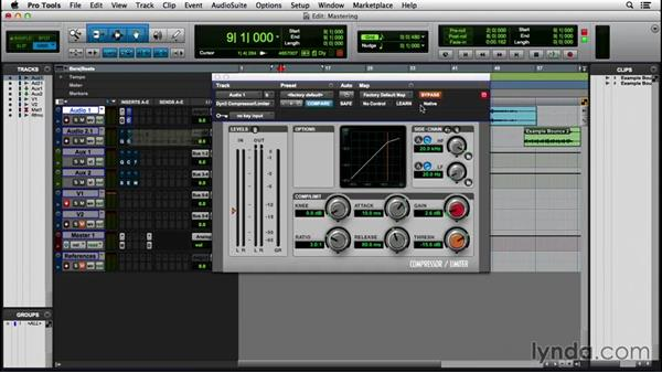 Exploring a simple mastering chain: Pro Tools 12 Essential Training (2016)