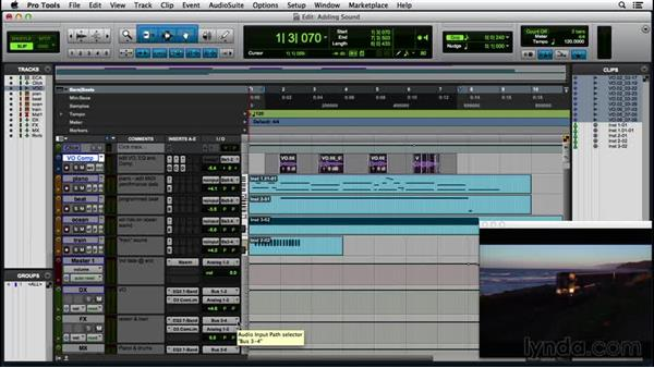 Adding sound and music to video: Pro Tools 12 Essential Training