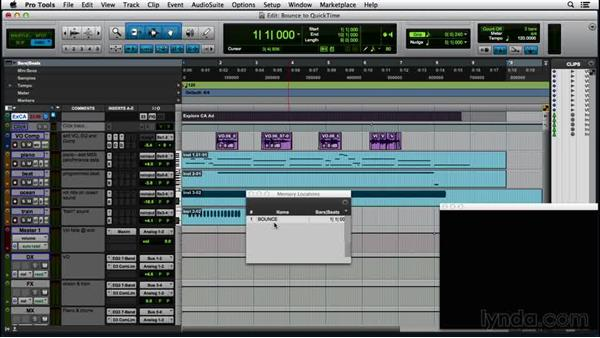 Bouncing to QuickTime: Pro Tools 12 Essential Training