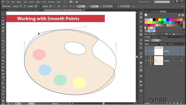Working with smooth points: Adobe Pen Tool: Fundamentals