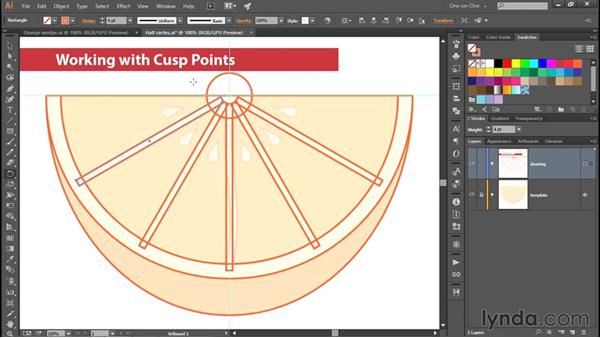 Creating cusps by subtracting shapes: Adobe Pen Tool: Fundamentals