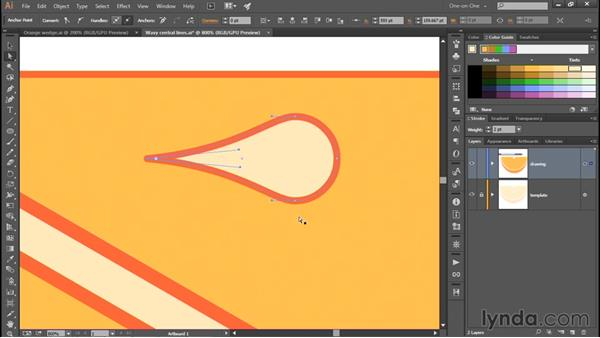Turning a circle into a droplet: Adobe Pen Tool: Fundamentals