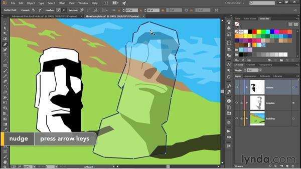 Real-world moving and nudging: Adobe Pen Tool: Fundamentals