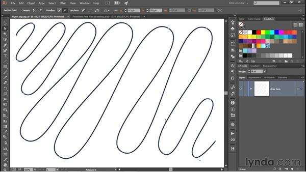 Converting multiple points with a single click: Adobe Pen Tool: Fundamentals