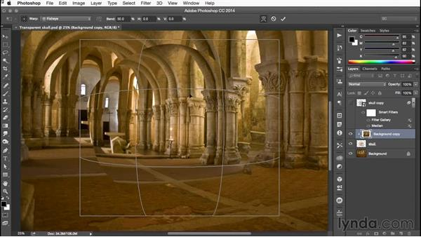 Using Image Warp: Building Transparency in Photoshop