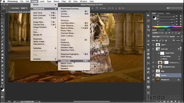 Adding shadows to get the final result: Building Transparency in Photoshop