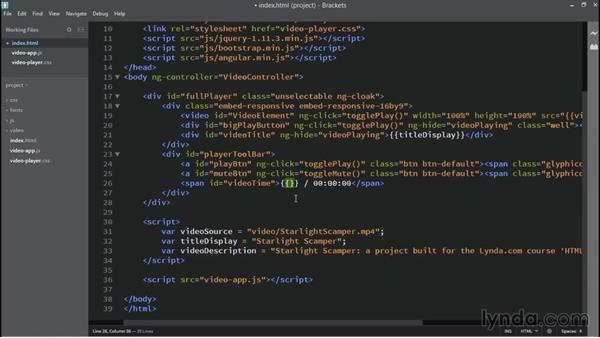 Time display: Building Custom HTML5 Video Playback with AngularJS 1