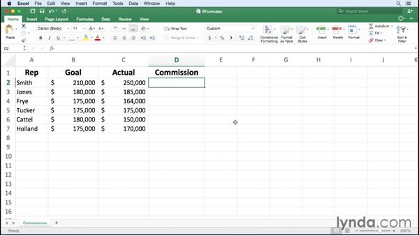 Summarizing data using an IF function: Office 365 for Mac: Excel Essential Training