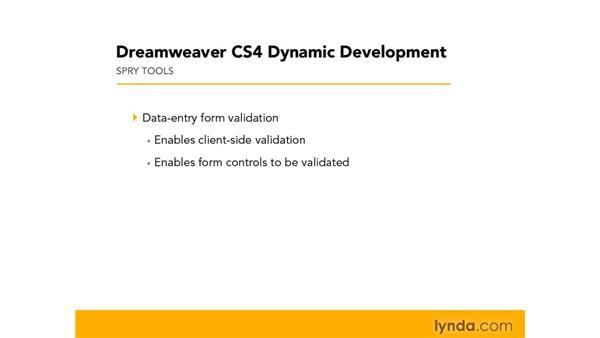 Understanding client-side form validation: Dreamweaver CS4 Dynamic Development