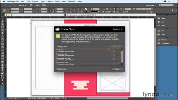 Using the exercise files: Getting Started with InDesign