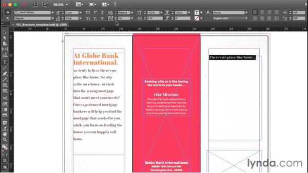 Adding or editing text: Getting Started with InDesign