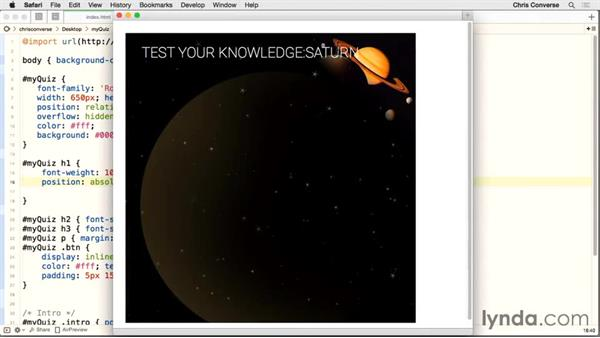 Styling the main heading: Creating a Quiz with AngularJS 1