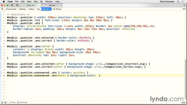 Setting the answered state of the question: Creating a Quiz with AngularJS 1